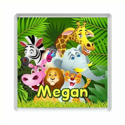Personnalisé Jungle Animaux Acrylique aimant de réfrigérateur