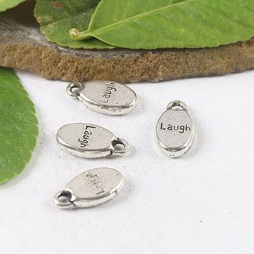20Pcs Tibetan silver LAUGH solid charms H1023