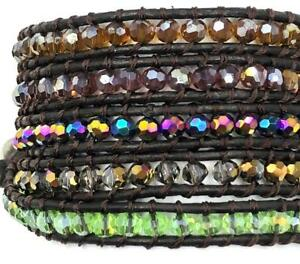For-34-inches-5-Wrap-bracelet-Bangle-Band-Wrist-Facet-Jewelry-Wrap-color-crystal