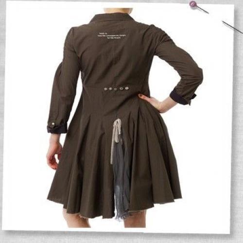 Odd Molly Molly Molly Mononoke  Military Khaki Green Dress Size 1 4905b4