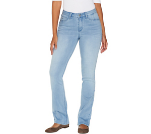 Laurie Felt Womens Silky Denim Baby Bell Jeans with Zipper Fly
