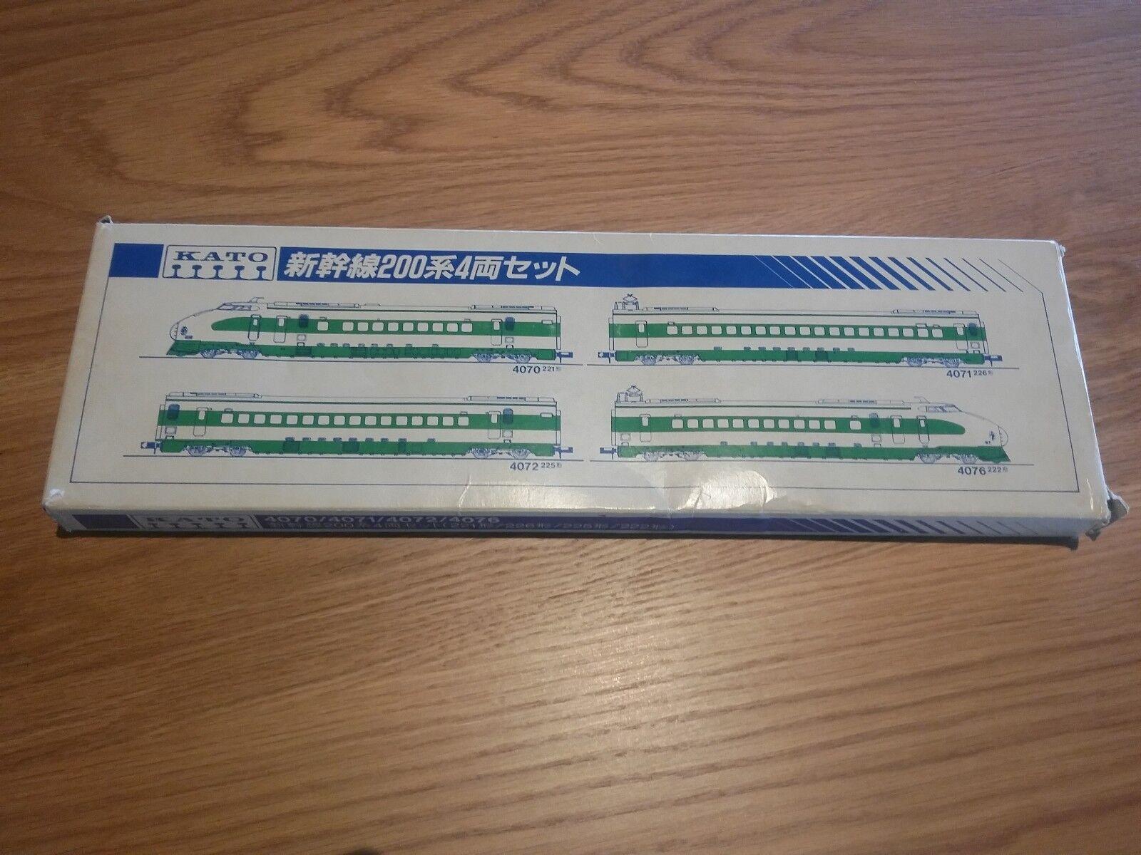 Kato årgång 200 Series NIB Tohoku -Joetsu Shinkansen Bullet Train 4 bils Set - N