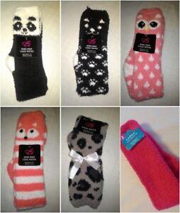 NEW-Cozy-SOCKS-knee-hi-CREW-womens-shoe-size-4-10-PANDA-OWL-CAT-FOX-LEOPARD-T18