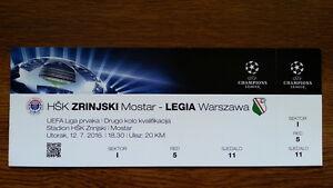 Ticket HSK ZRINJSKI - LEGIA WARSAW Champions League 2016/17 Bosnia Poland Polska - Poland, Polska - Ticket HSK ZRINJSKI - LEGIA WARSAW Champions League 2016/17 Bosnia Poland Polska - Poland, Polska