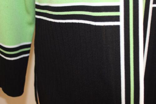 Åben M Exclusively Jakke Elegant Pm Striped Sz White Misook Green Petite 8wqXrf8