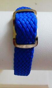 10 Montre Nylon Longueur Watch Nato Style Sur Tressé Détails 22 Bands Mm Bleu Cm Bracelet 9HIEWD2Y