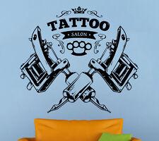 Tattoo Salon Wall Decal Tattoo Parlor Vinyl Sticker Shop Logo Wall Art Decor 1ts