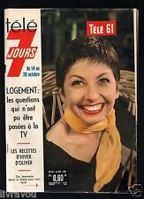 ►Télé 7 Jours N° 82 de 1961 ZIZI JEANMAIRE_MASTROIANNI_JEAN JACQUES DEBOUT