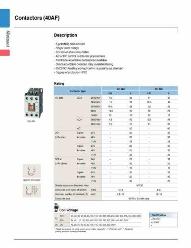 Motor Starter LSis 50 HP @ 480V 54-75 Amp Overload 120 Volt Coil Nema Size 3 UL