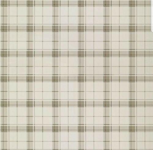 same batch Laura Ashley Highland Check Dove Grey Wallpaper Price per roll