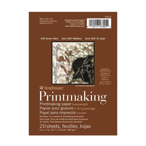 Strathmore 400 Series Heavyweight Printmaking Paper Pad 280gsm 5x7in