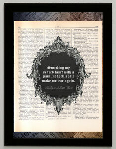 Details about Edgar Allan Poe quote citation 2 print dictionary page art  poster reproduction
