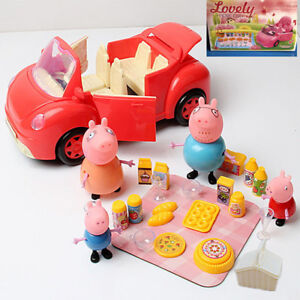 Peppa-Pig-Picnic-Car-figures-Xmas-Gift-Kid-Toy-Children-Characters-P5OFF-5-off