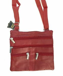 Burgundy-Women-CROSS-BODY-LEATHER-SATCHEL-MESSENGER-BAG-48-034-STRAP