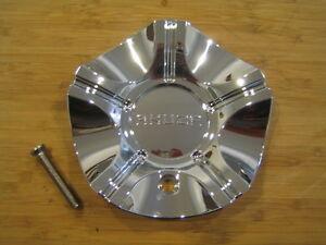 Akuza 636 Anthracite Chrome Wheel Rim Center Cap Emr636
