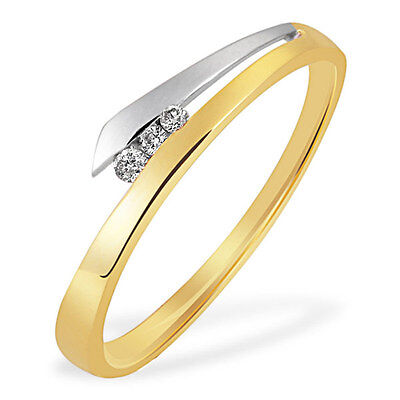Goldmaid Ring Spannfassung Bicolor 585 Gelbgold 3 Brill. 0,03 ct. Glamour