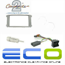 Ford Mondeo MK4 Car Stereo Silver Double Din Fascia & Steering Wheel Interface