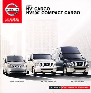 2014 Nissan Nv Van 36 Page Original Sales Brochure Catalog Nv200