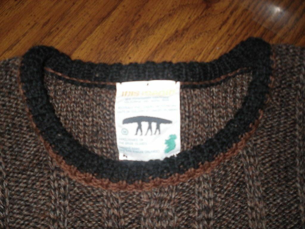 Inis Meain Fishermans Sweater M Medium 100% Wool … - image 4