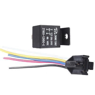Car Motor 12V 30A Relay Socket Plug Fan Fuel Pump Horn 5P 5 Wire WYS Sales