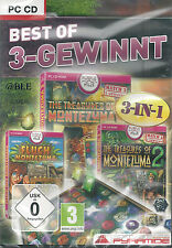 Pc CD + best of 3 gagne + 3 versions complètes + Moctezuma + win 7