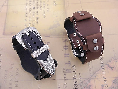 Size 16/18/20/22mm Vintage Western Style Leather Cuff Watch Strap/Band (435)