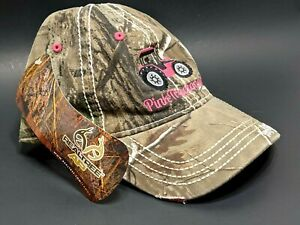 Realtree  Pink Camo Women's Cap Tractor Distressed Embroidery Hat