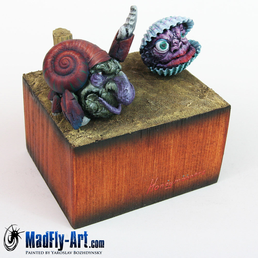 MadFly-Art Frutti Di Mare Crab Crab Crab and Shelldon MASTERS7 painted 6c7f94