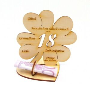 18 Geburtstag Geldgeschenk Geld Schenken Geburtstag Holz 11 Cm