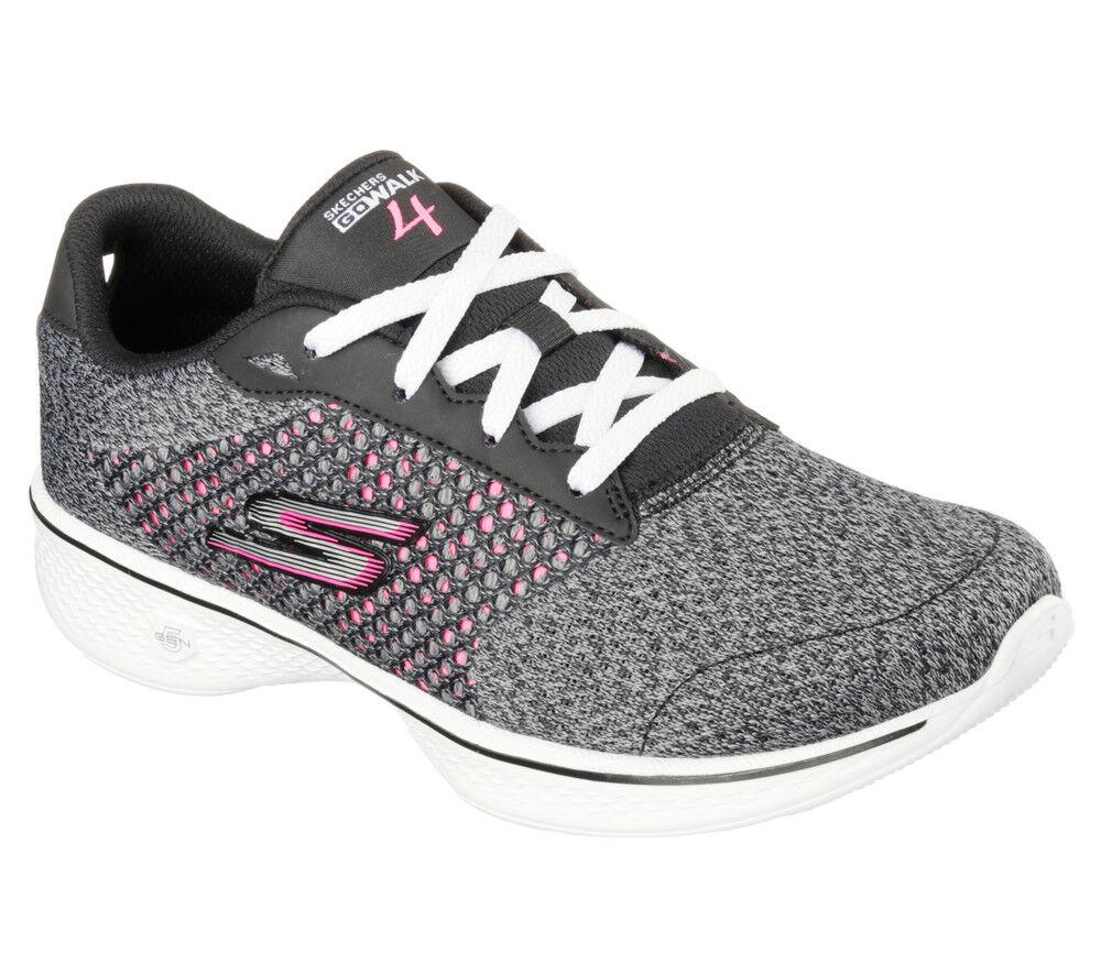 NEU SKECHERS Damen GO Fitness Sneakers Turnschuh Walking GO Damen WALK 4 - EXCEED Schwarz 8131f7
