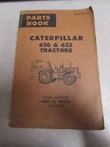 Caterpillar-Cat-630-amp-632-Tractor-Parts-Catalog-Manual-14G1-14G532-1970