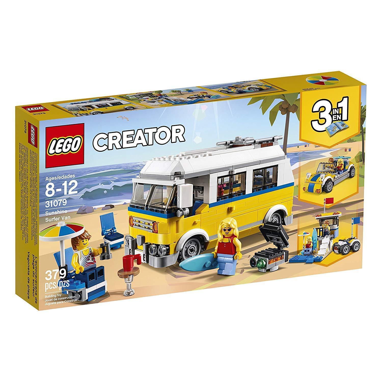 LEGO Creator 3in1 Sunshine Surfer Van 31079 Building Kit, 379 Piece