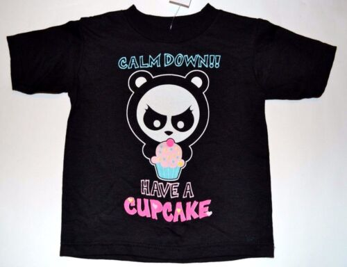 """3T or 4T Tee Have a Cupcake/"""" T-Shirt  2T Angry Panda /""""Calm Down!"""