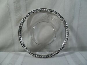 Vintage W M Rogers Mfg Co Sterling Silver And Glass