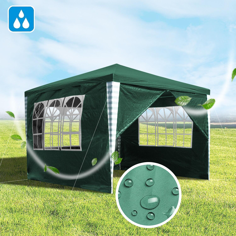 3x3m Festzelt Partyzelt Pavillon Gartenpavillon Bierzelt Vereinszelt Zelt Grün | Garantiere Qualität und Quantität  | Helle Farben  | Neueste Technologie