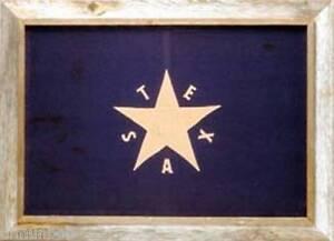 Texas-DeZavala-Flag-Framed-Barnwood-Flag-28-034-x40-034-First-Flag