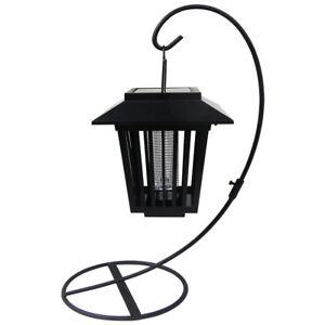 4-Exterieur-Solaire-DEL-Insecte-Bug-Zapper-Lumieres-Lanterne-Moustique-controle-chemin-lampe