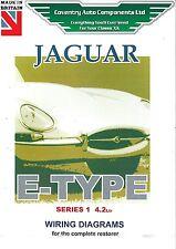 wiring diagram jaguar jaguar e type series 1 4 2 litre wiring diagram book 9191