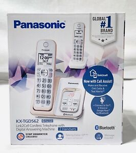 Panasonic-KX-TGD562-Rose-Gold-Link2Cell-Cordless-Phone-DECT-6-0-BRAND-NEW