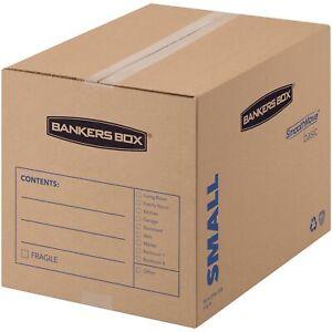 Bankers Box SmoothMove Basic Moving Boxes, Small, Kraft, Black, 25 / Carton (Qua