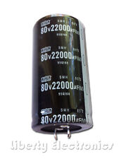 NEW 22000 uF by 80V ELECTROLYTIC CAPACITOR 80x42mm