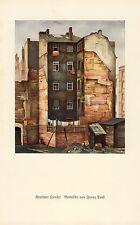 Häuser in Berlin Kunstdruck 1930 Franz Lenk * Langenbernsdorf † Schwäbisch Hall