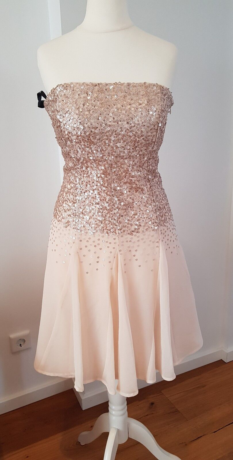 Vero Mont Abendkleid rosé Pailleten Größe S