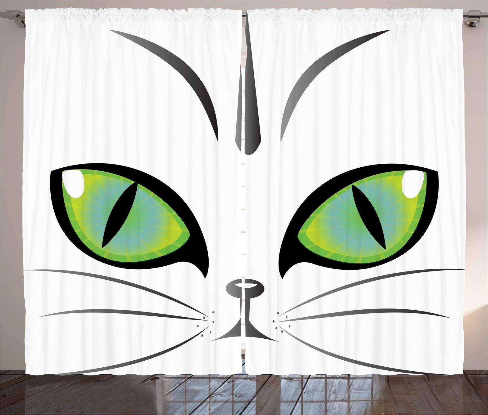 Set Cortinas de ojos Panel 2 para la decoración del hogar 5 Tamaños Disponibles Ventana Cortinas
