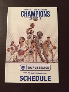 Details about Golden State Warriors 2017-18 NBA pocket schedule - NBC Bay  Area