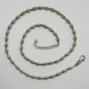 866 - Aparte 45 bis 50 cm lange Kette aus rhodiniertem aus 925 Silber - G22