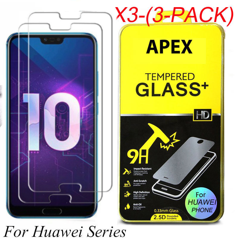 1-3x Tempered Glass Screen Protector For Huawei P8/P9/P10Plus/Lite Honor 8 9 10