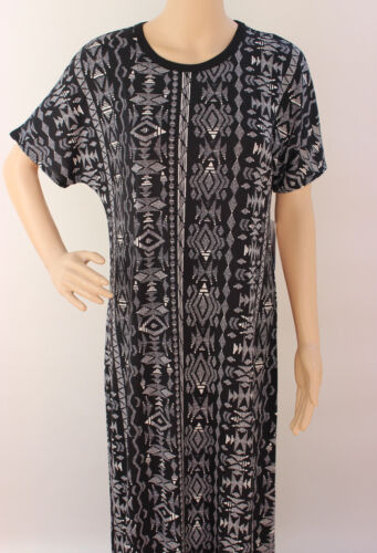 Large LuLaRoe Maria Dress Noir Blanc White Black Aztec SOFT Stretchy NWT 05