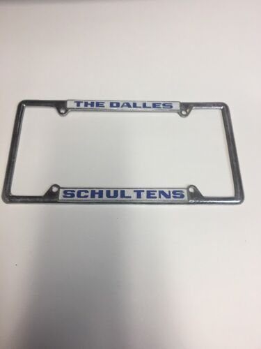 The Dalles Schultens License Plate Frame
