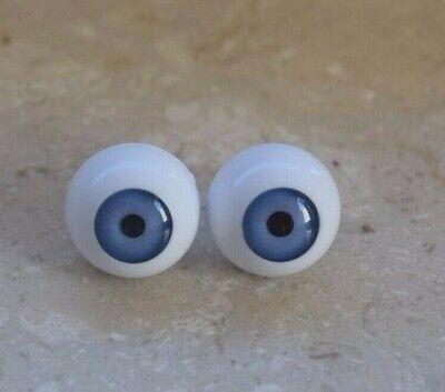 7 Acryl Puppen Augen für  Porzellan Puppen Künstler Puppe blau  Dm 20 mm